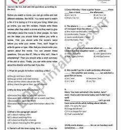 14/15 GRADE 9 1st TERM 2nd TEST - ESL worksheet by gkhndmrc [ 1161 x 821 Pixel ]
