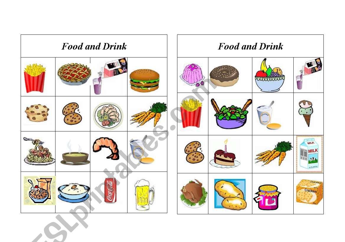 Bingo Food And Drink 5 Of 8