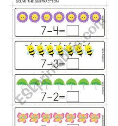 SUBTRACTION - ESL worksheet by Carol Ximena [ 1161 x 821 Pixel ]