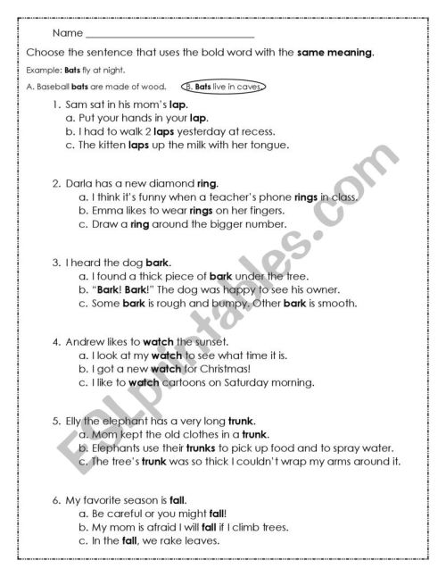 small resolution of Multiple Meaning Words Pdf Word Work Pinterest - Free Photos