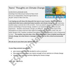 Write a blog comment (climate change) - ESL worksheet by fless [ 1161 x 821 Pixel ]