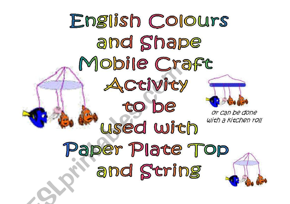 Make A Colour And Shape Mobile