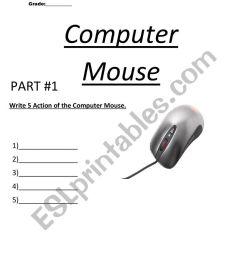 Computer Mouse - ESL worksheet by MR.COLON07 [ 1062 x 821 Pixel ]