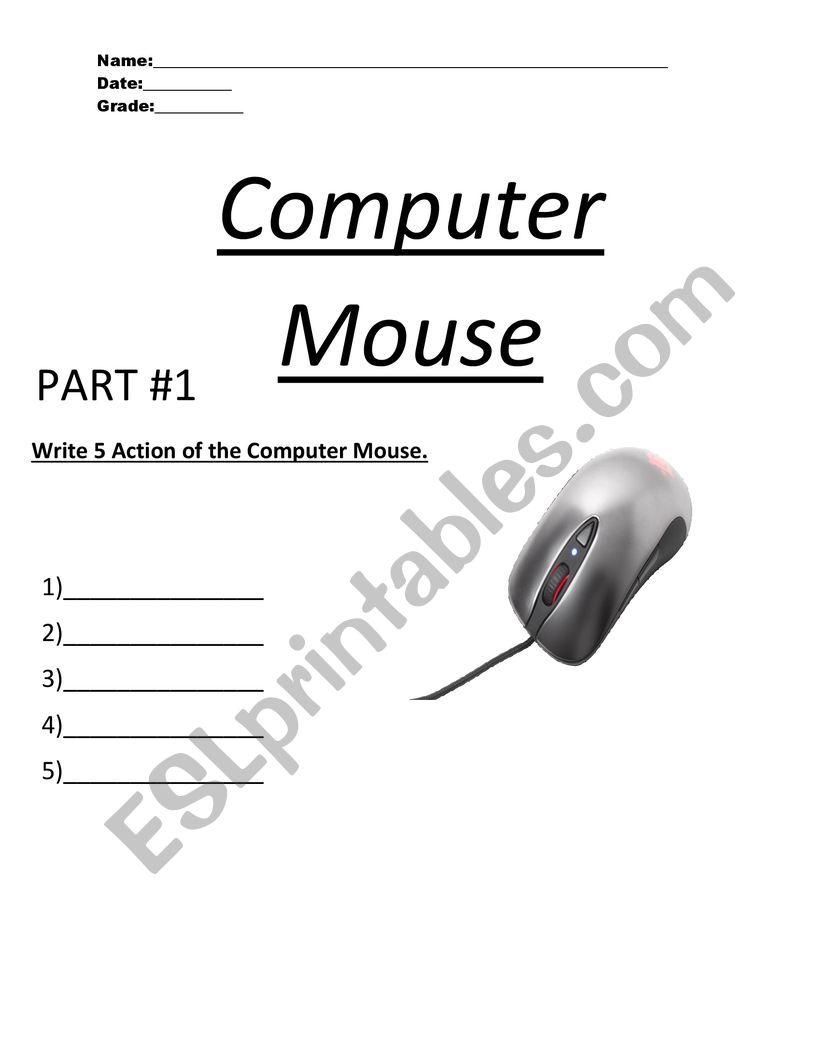 medium resolution of Computer Mouse - ESL worksheet by MR.COLON07