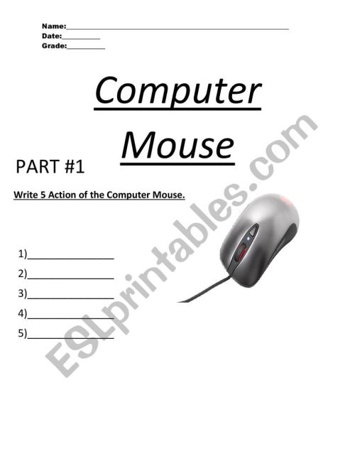 small resolution of Computer Mouse - ESL worksheet by MR.COLON07