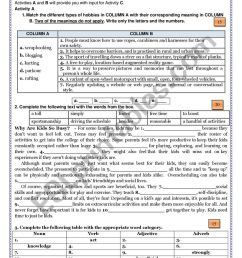 Summative Test on Block 0 - 10th Grade - Getting Started - ESL worksheet by  fatilebre [ 1161 x 821 Pixel ]