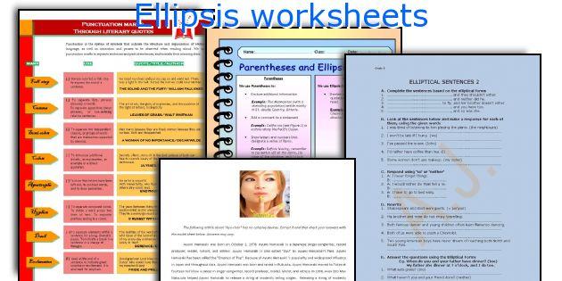 English Teaching Worksheets Ellipsis