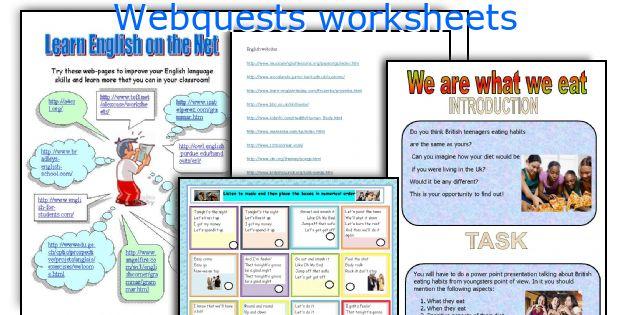Webquests Worksheets