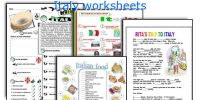 Italy worksheets