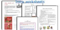 All Worksheets  Irony Worksheets - Printable Worksheets ...
