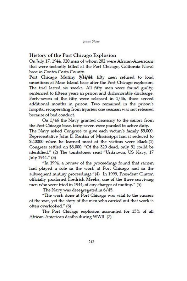 History of Port Chicago