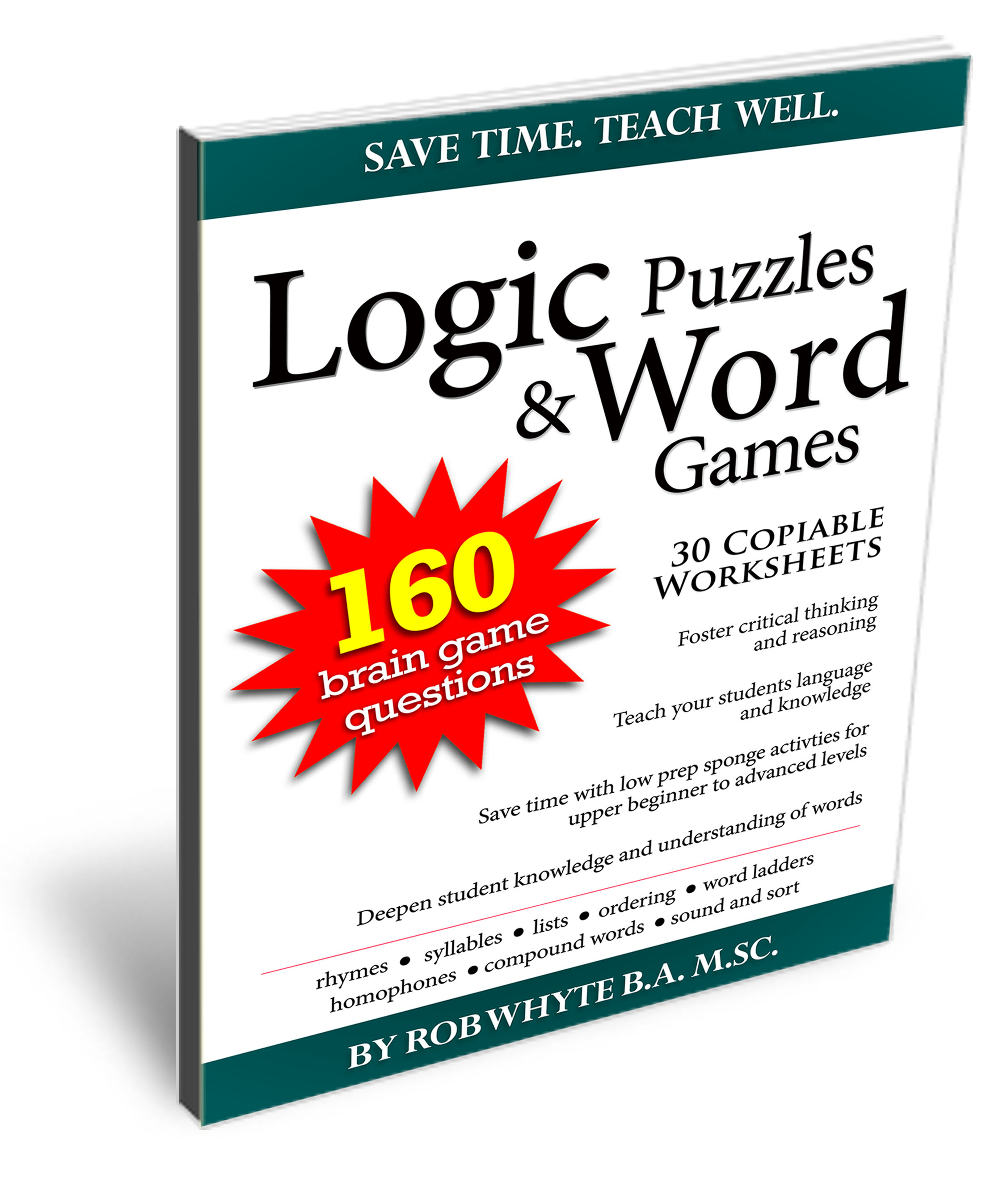 160 Logic Puzzles And Word Games