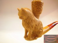 Animal Meerschaum Pipe 12 // Lion Tobacco Pipe, The Cat