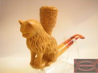 Animal Meerschaum Pipe 12 // Lion Tobacco Pipe, The Cat ...