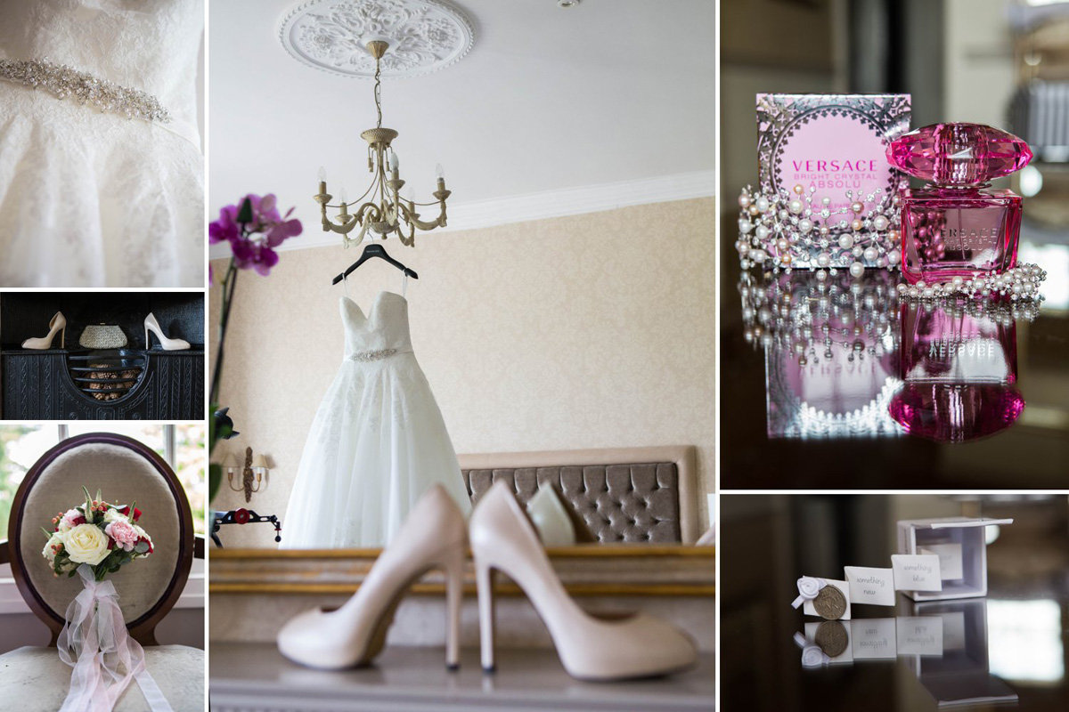 Wedding Dress Hanging at Brockencote Hall Bridal Suite