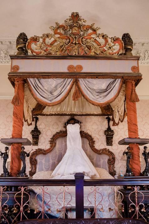 wedding dress vintage bedroom coombe abbey