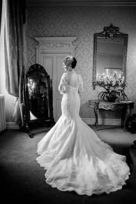 bride vintage dress coombe abbey wedding morning