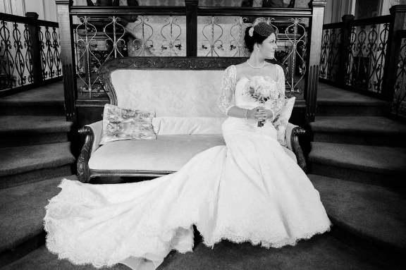 glamourous vintage portrait bride wedding morning coombe abbey