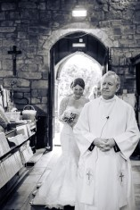 wedding ceremony quirky bride walking aisle church john baptist Wolvey