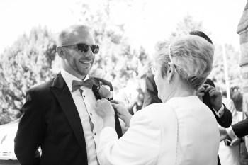 buttonhole wedding morning groomsman ettington park hotel stratford upon avon