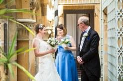 bride father maid of honour pre ceremony