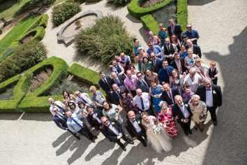 group wedding photograph ettington park hotel