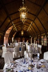 long gallery ettington park hotel wedding blue and white