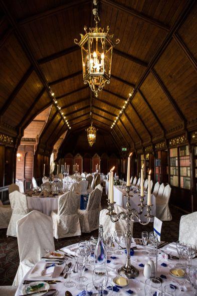 long gallery ettington park hotel wedding blue and white