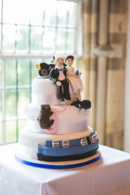 quirky wedding cake relaxed informal wedding