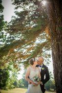 bride groom golden hour light tree ettington park hotel wedding