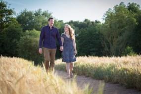 rustic pre wedding engagement shoot golden hour warwickshire