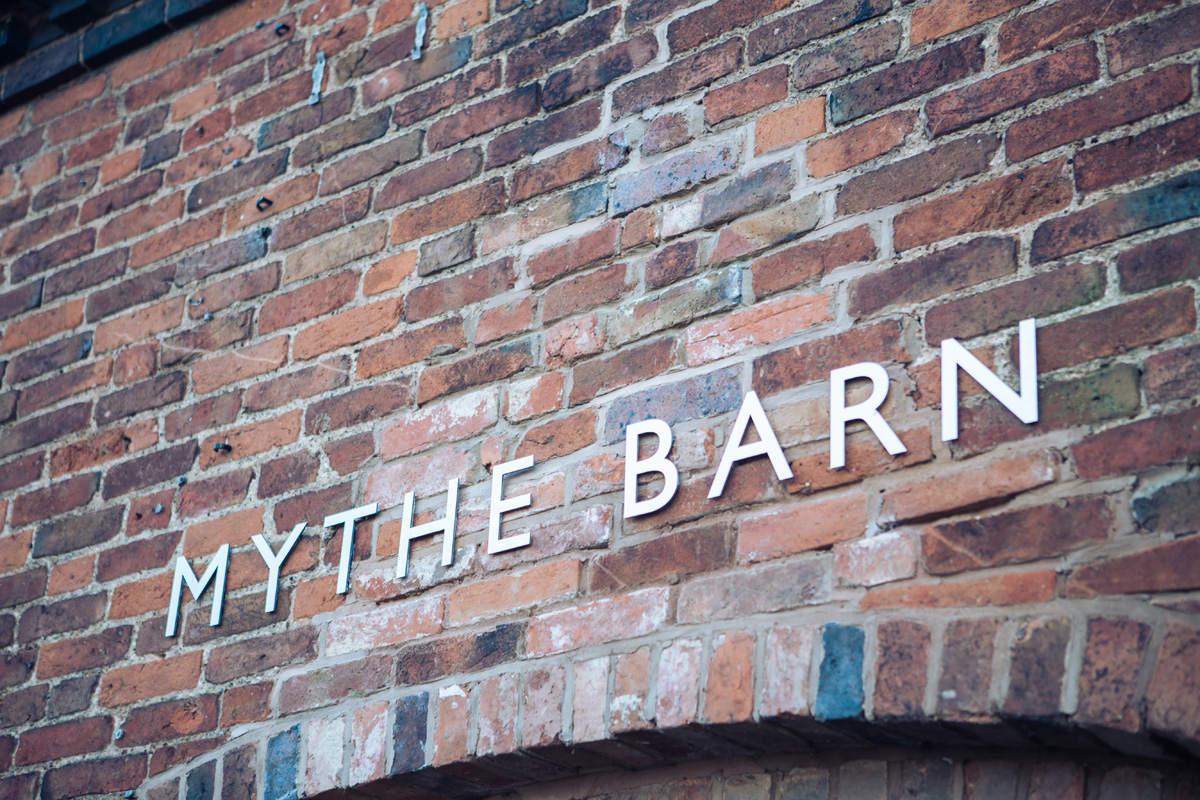 Mythe Barn Wedding Venue Signage