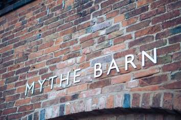 Mythe Barn Wedding Venue Signage