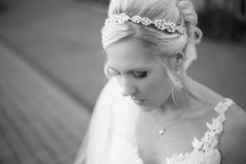Bridal portrait Winter Wedding Mythe Barn Warwickshire