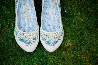pearly girly irregular choice wedding shoes