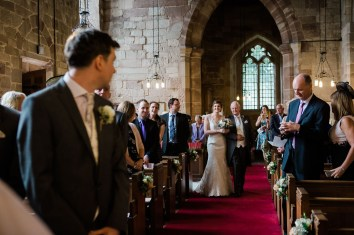 groom sees bride for the first time bradley church