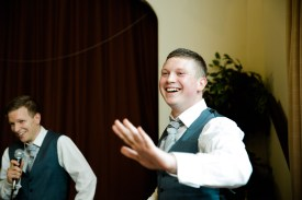 Fun Country Wedding Claverdon Village Hall -101