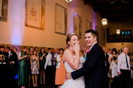 Bride and Groom First dance Stables