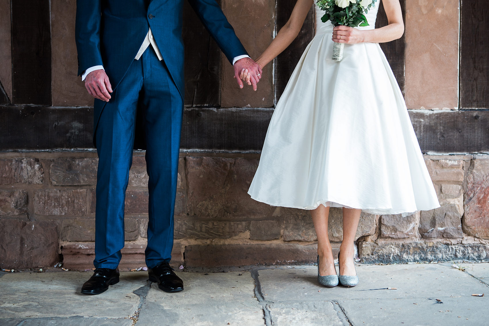 Coventry Registry office wedding bride and groom holding hands