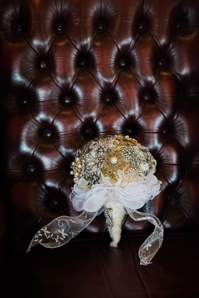 brooch bouquet industrial theme wedding west mill