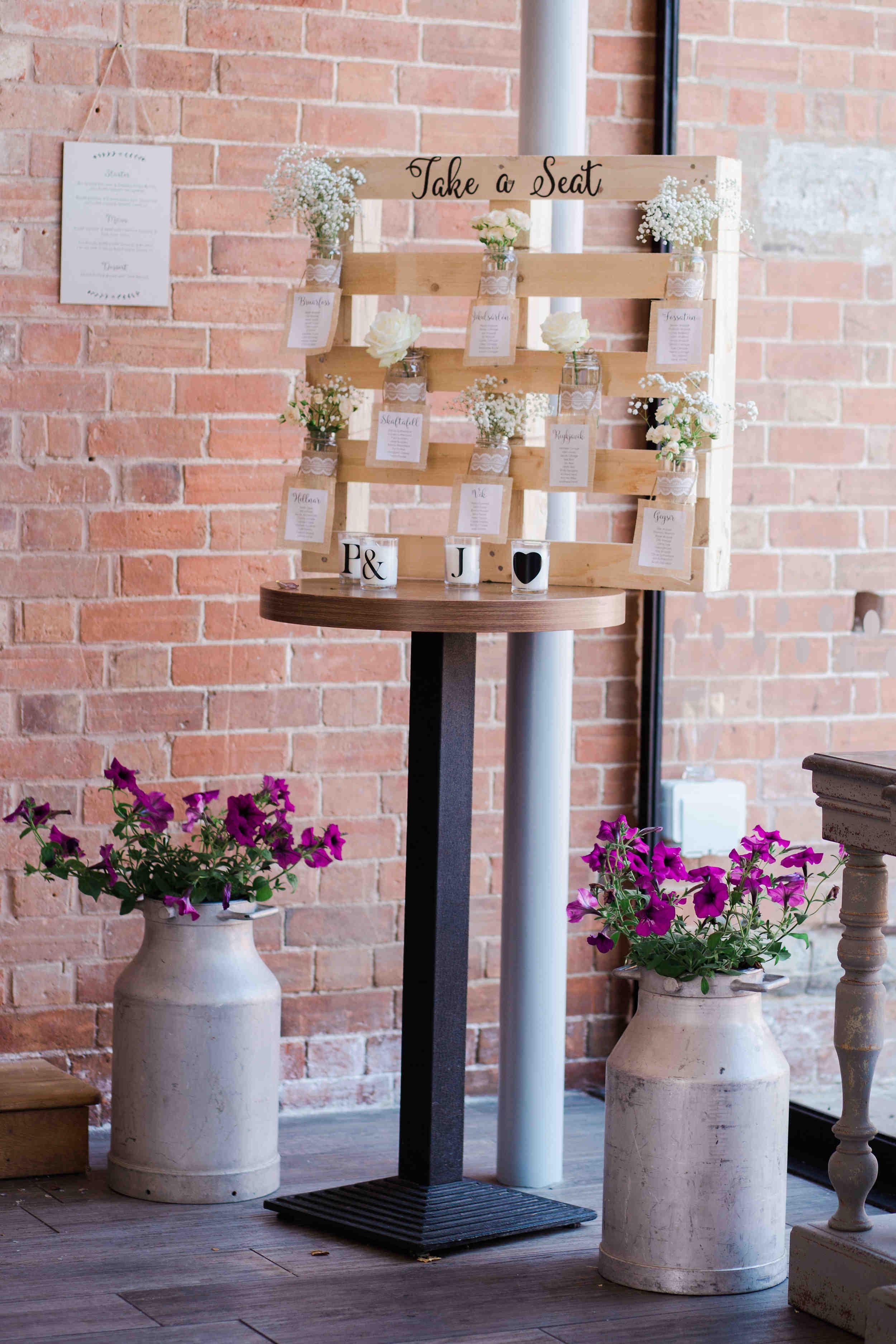 pallet wedding seating plan rustic diy wedding barn