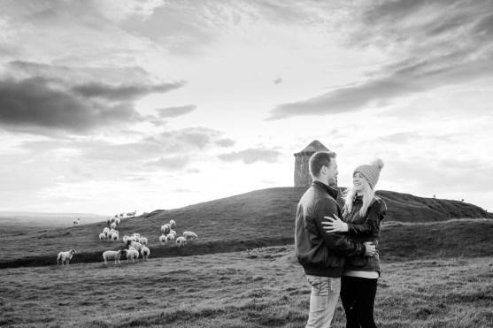 Burton Dassett Hills Pre-Wedding Shoot007-1