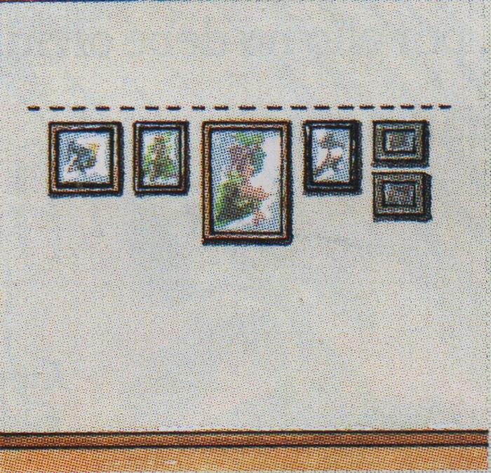 la composicin horizontal es ideal en salas de techo altos los cuadros dispuestos son un buen recurso para reducir visualmente la altura de