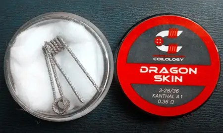 Dragon Skin RBA Coils, Ni80 från Coilology (2-pack)