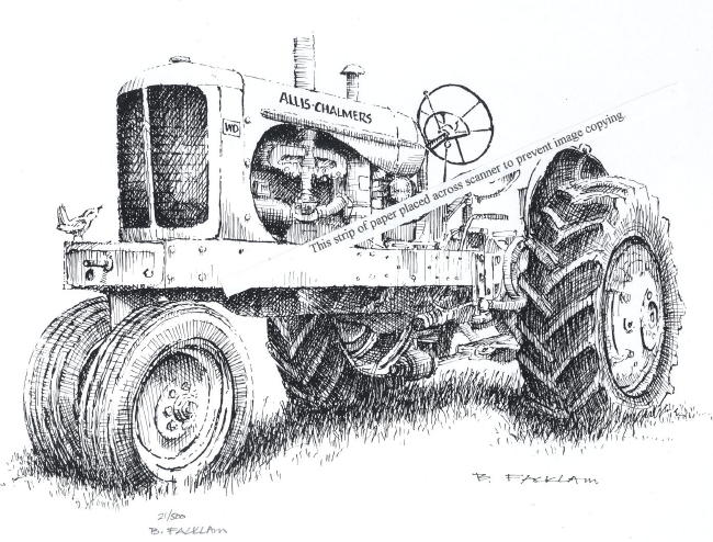 Allis Chalmers Model WD Farm Tractor ~ Signed Print