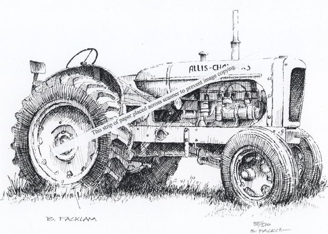 Allis Chalmers Model WF Farm Tractor ~ Signed Artist Print