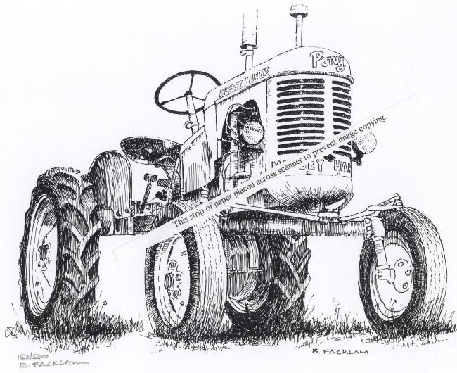 Massey Harris Pony ~ Vintage Farm Tractor ~ Signed Print