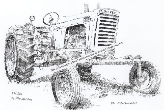 Oliver 880 ~ Vintage Farm Tractor ~ Signed Print