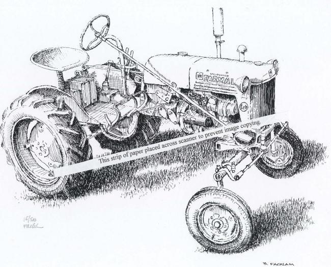 Farmall Cub ~ Vintage Classic Farm Tractor ~ Signed Print