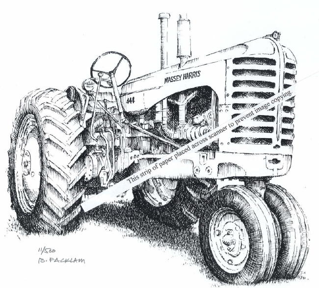 Massey-Harris 444 Farm Tractor ~ Signed Print